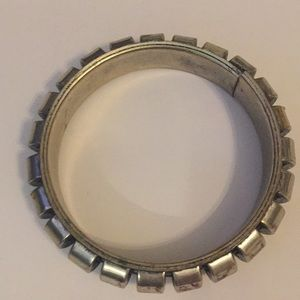 Vintage Jewelry - Vintage Jewelry Silver Tone Stainless Steel Bangle